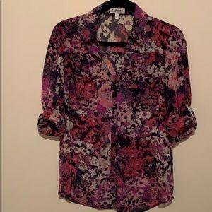 Express Floral Print Portofino Shirt